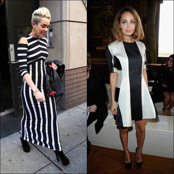 Outfit vestido blanco y negro