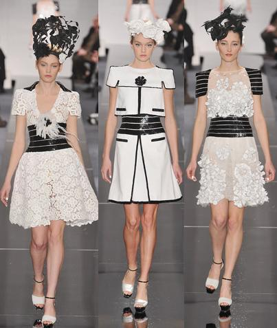 Vestido blanco y negro de mujer