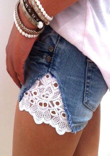 encaje shorts