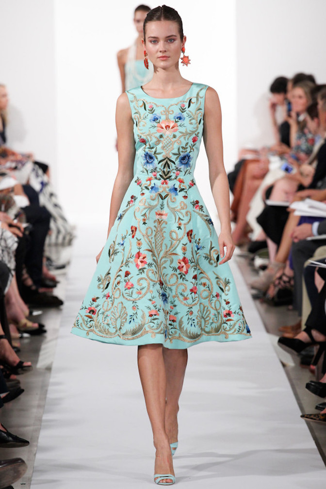 Oscar-de-la-Renta-Spring-2014-embroidery-dress
