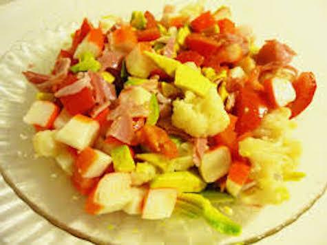coliflor-manzana-jamon