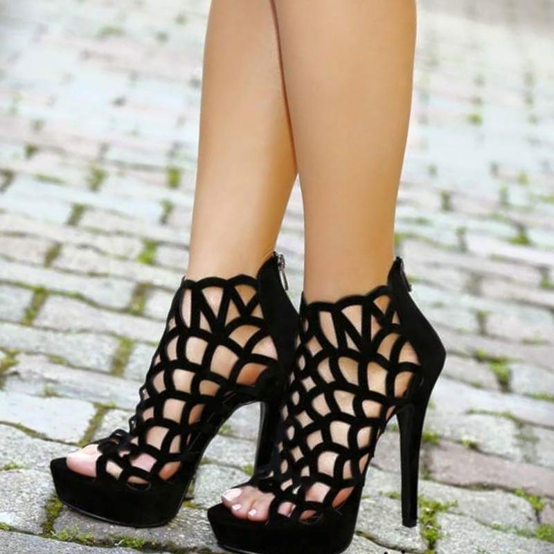 sandalias de mallas