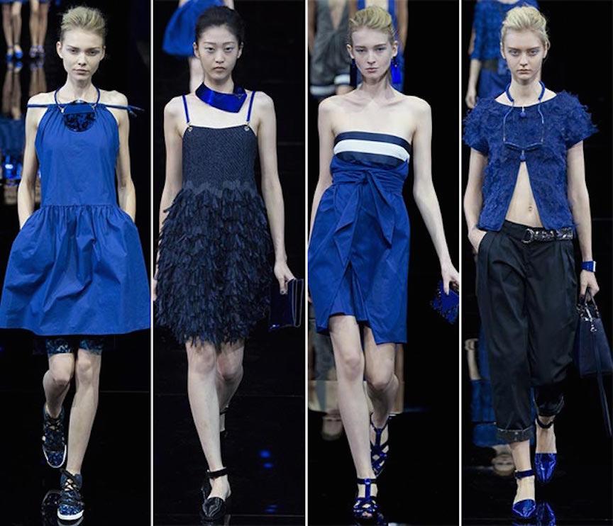c4d8dfc037ecf La colección azul del emporio Armani - Mujer Chic