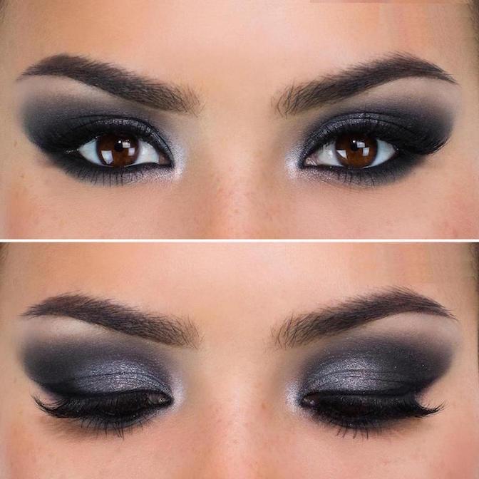 maquillaje de ojos-smokey eyes