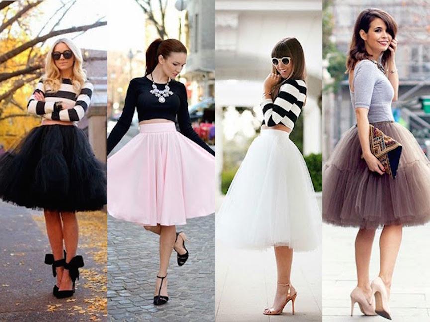 865c8db66 La falda de Tul, sigue en tendencia, como combinarla - Mujer Chic