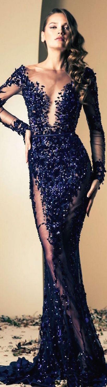 vestido largo con piedrerias