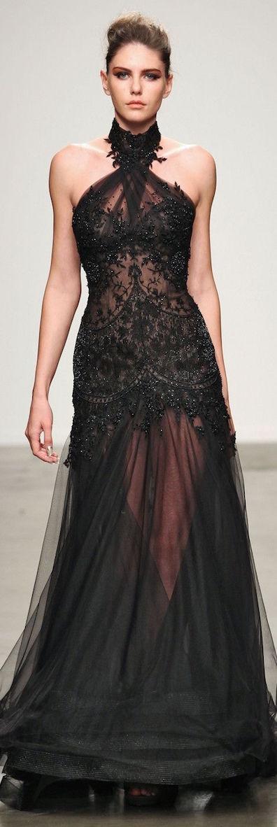vestido largo de encaje