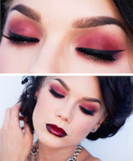Maquillaje Color Vino 2 Mujer Chic