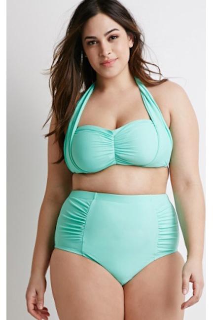 Ropa-de-ba-no-de-mujer-Forever-21-Bandeau-Halter-Bikini-Top