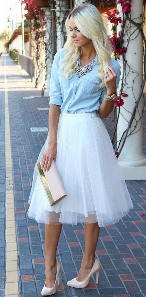 falda de tul-