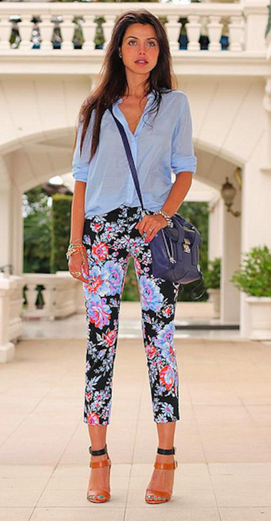 pantalones de flores