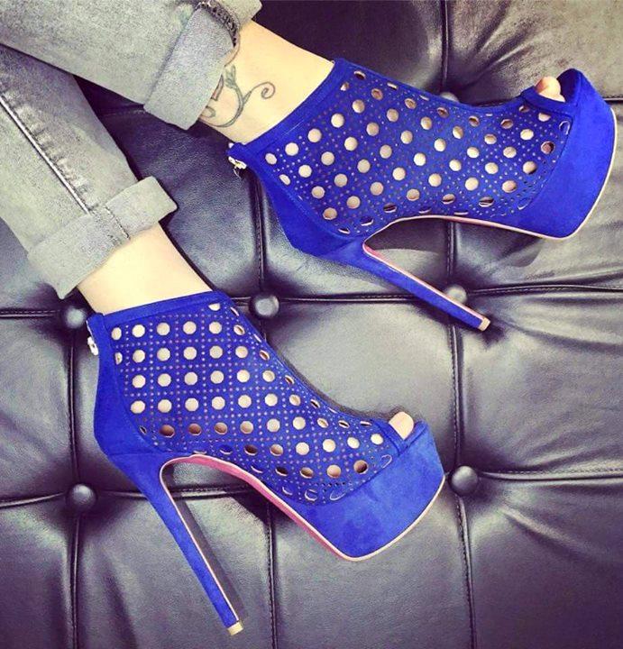 azul - zapatos azules