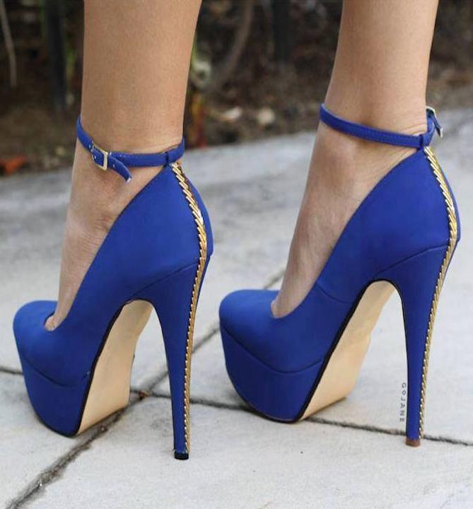 azul zapatos