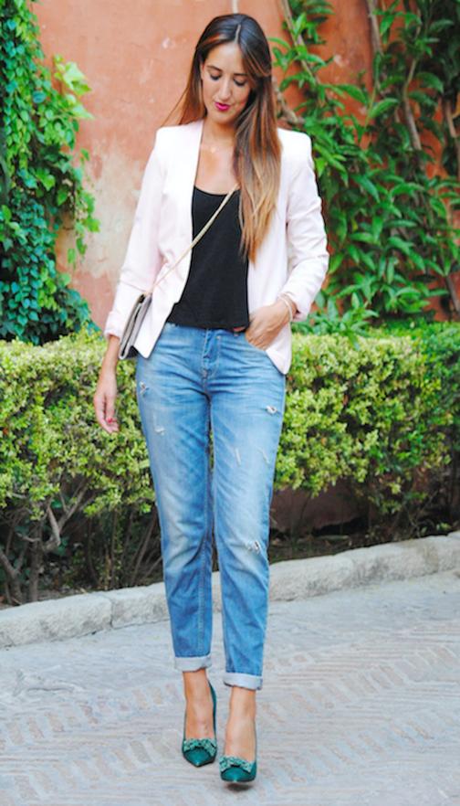 zapatos verdes-jeans