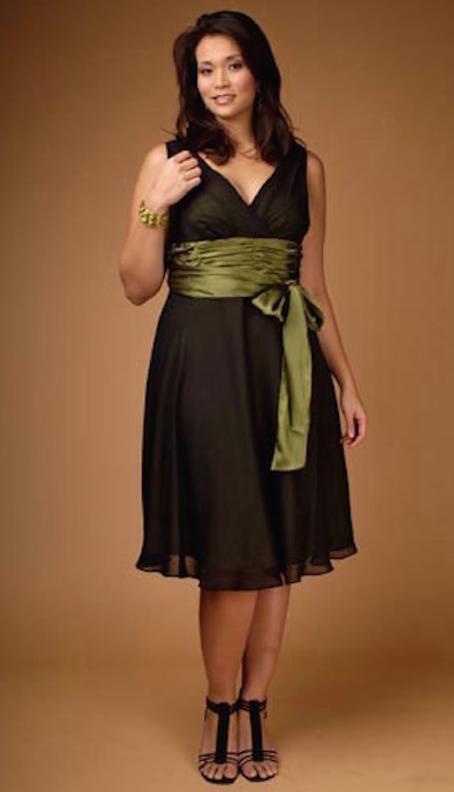 vestidos cortos de fiestas para personas con sobrepeso