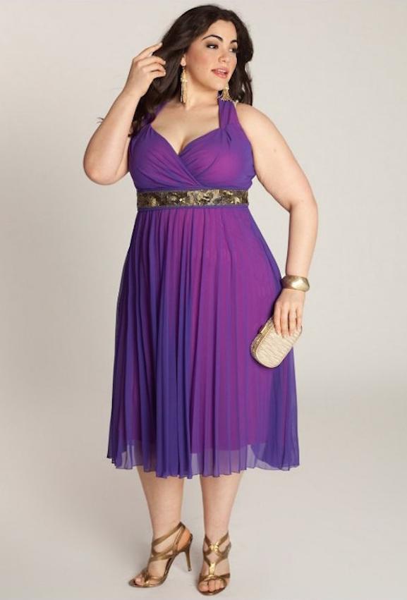 Vestidos cortos de noche para personas con sobrepeso - Mujer Chic
