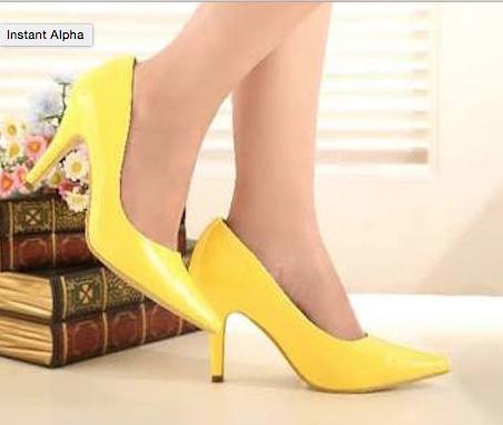 zapatos amarillos-x
