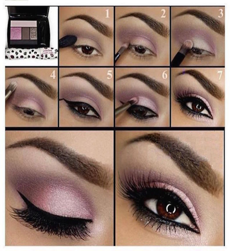 maquillaje rosado