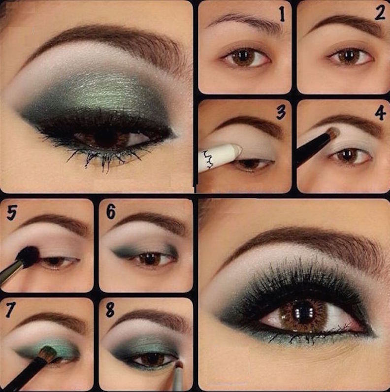 How to how to apply smokey eyes makeup step by step : :0,