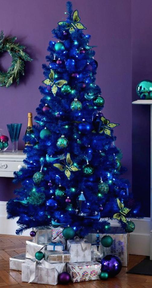 arbol de navidad azul o - Arbol De Navidad