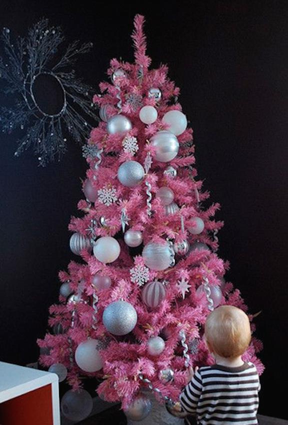 arbol de navidad rosado