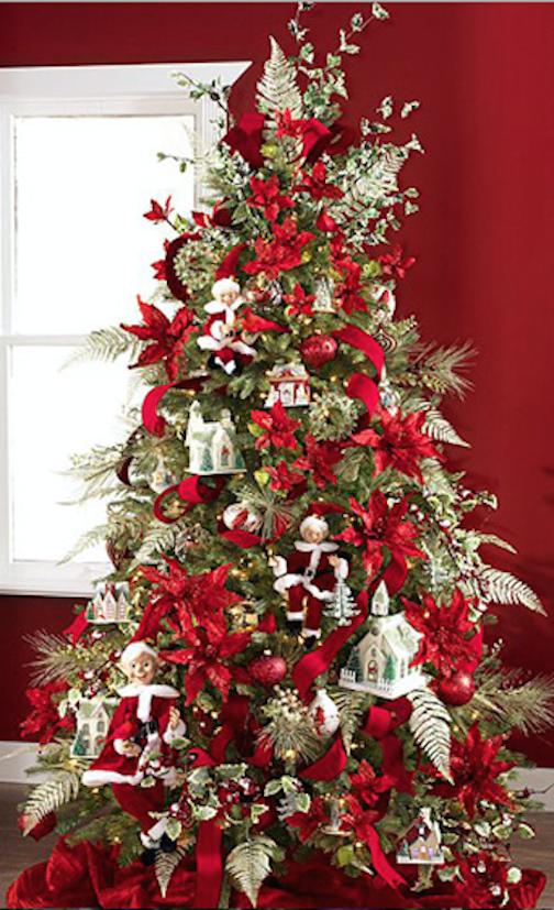 arbol navidad con adornos sencillos