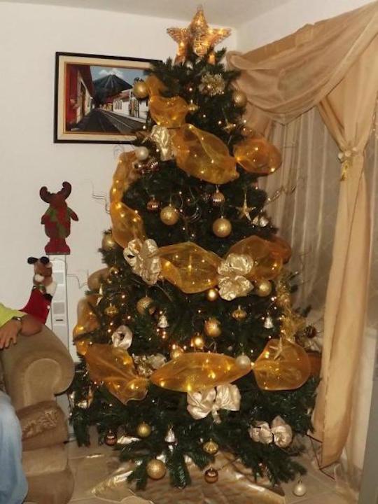 lindos arboles navidad dorados l eurvww - Como Adornar Un Arbol De Navidad