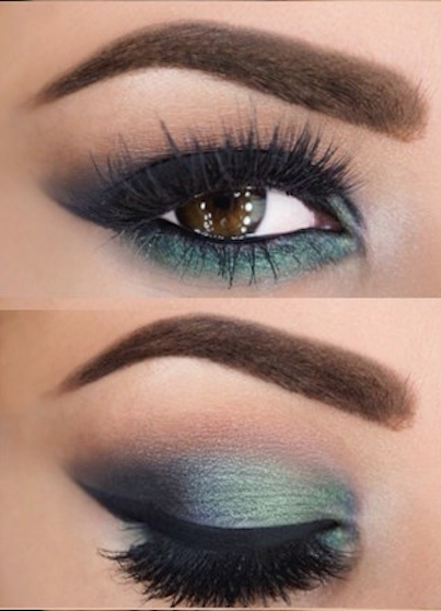efecto smokey eyes