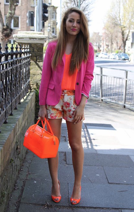 orange shoes