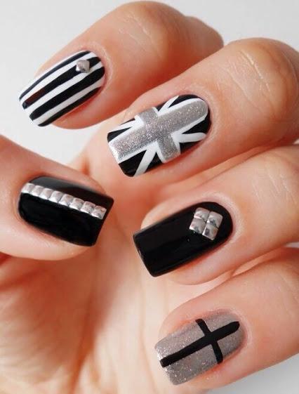Uñas-blanco-y-negro-27