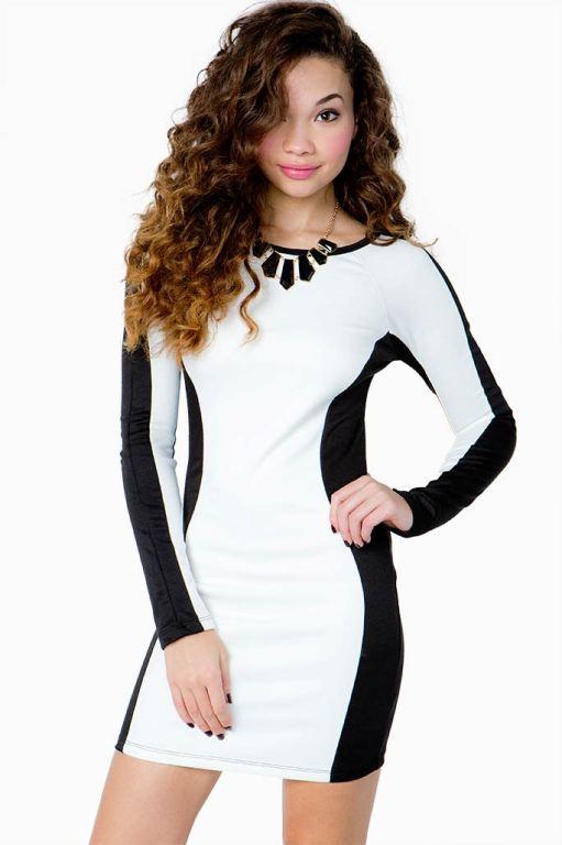 Vestidos negro con blanco para gorditas