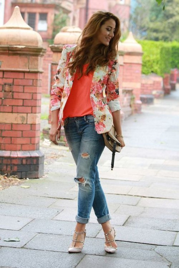 chaqueta de flores