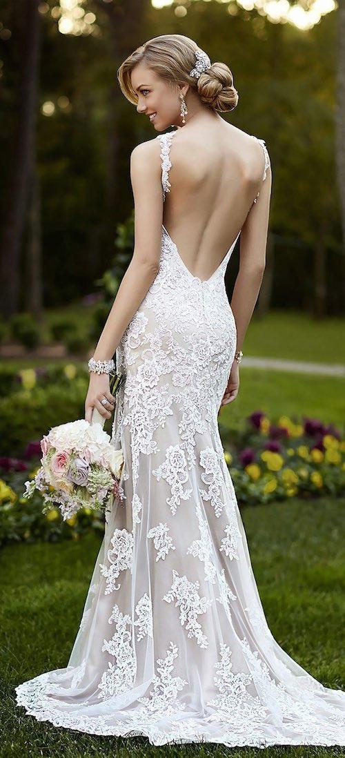 vestido se novia ajustado