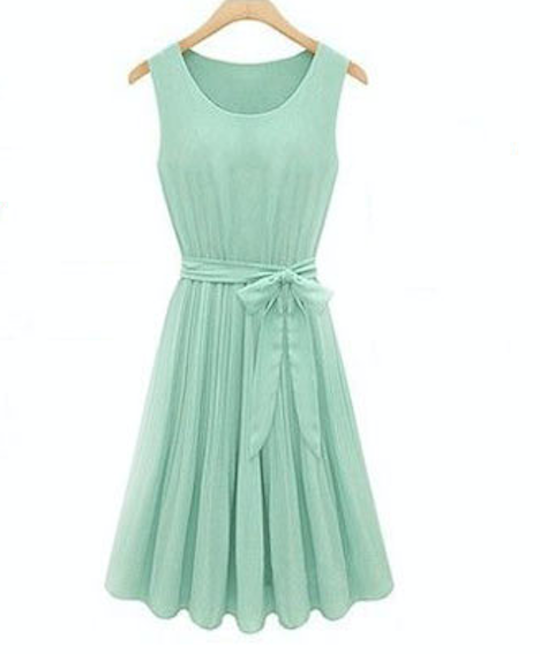 vestido color mint