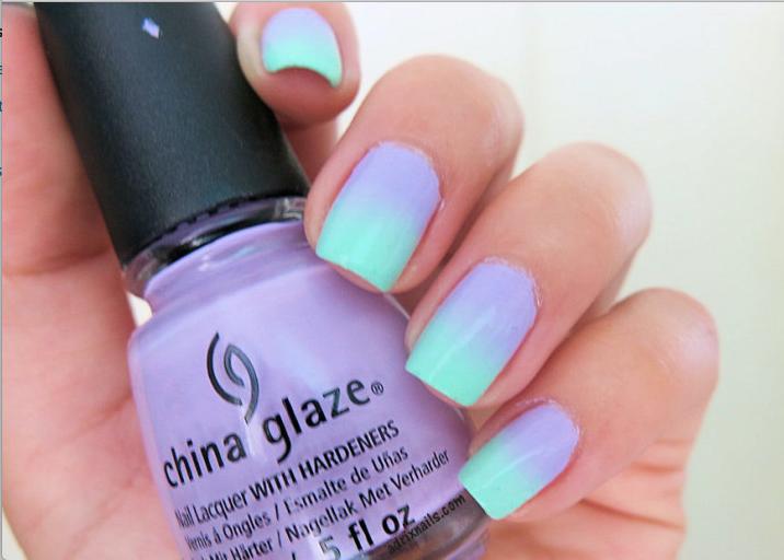 uñas de dos colores-h