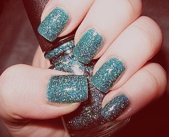 uñas glitter