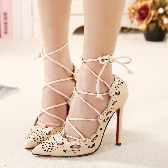 816-5-talla-grande-mujer-de-tiras-tacones-plataformas-2015-Sexy-Cut-outs-zapatos-mujer-encaje