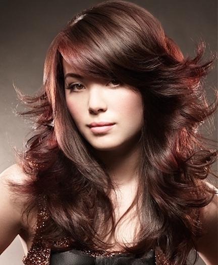 Corte de cabello largo en capas chicas