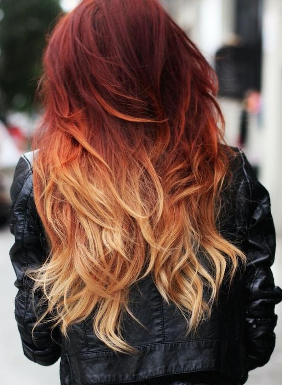 peinado en capas largo