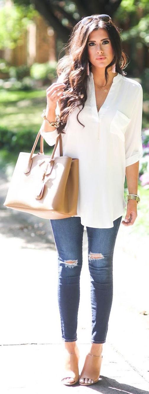 blusa y jeans