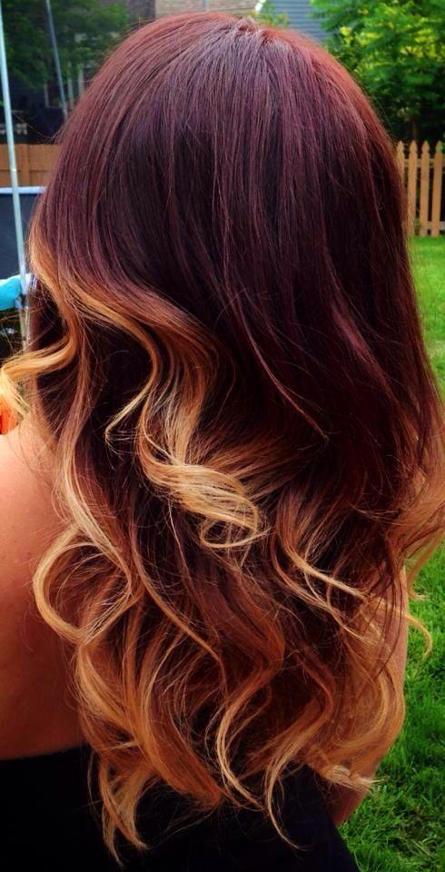 pelo rojo con mechas