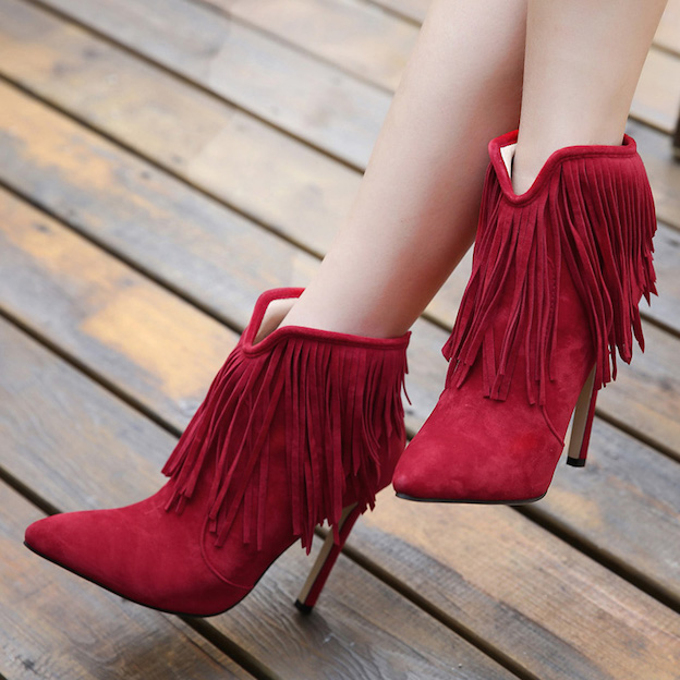 2016-Fashion-Fringed-pointed-high-heeled-ankle-boots-female-shoe-Short-boots-Thin-Heel-Pumps-Girls-1