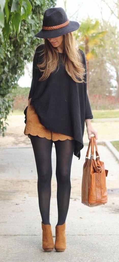 shorts en invierno