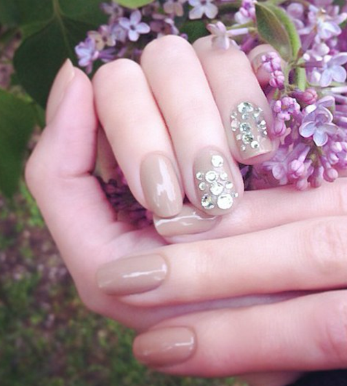 Uñas Color Beige Archives Mujer Chic