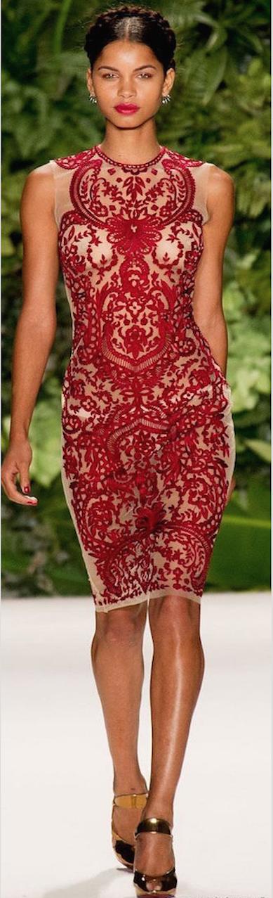 vestido rojo de coctel