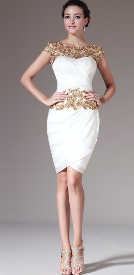 vestido corto de noche-z