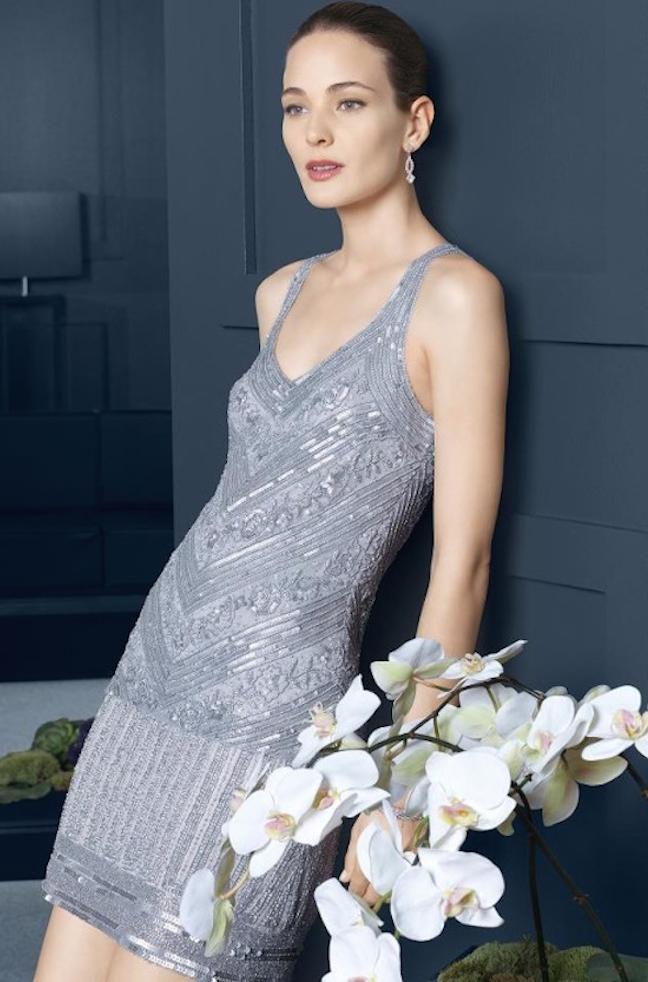 vestido de brillo