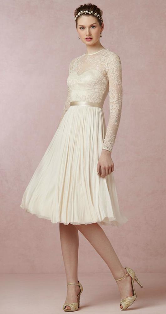 Vestidos de boda cortos de color