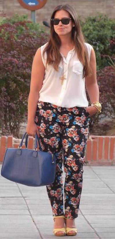 Los Pantalones Floreados Un Must Esta Temporada 18 Formas De Llevarlos Mujer Chic