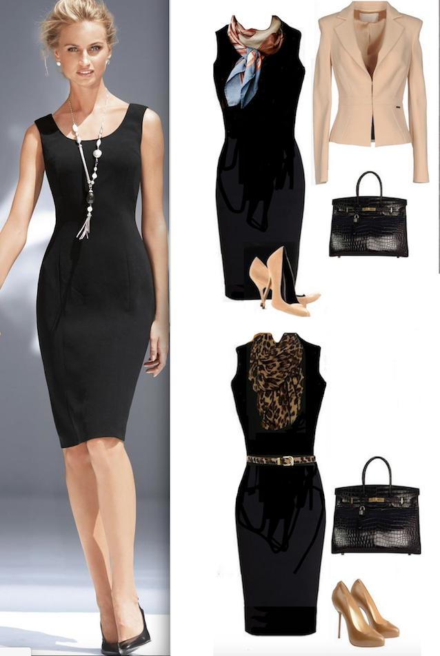 Complementos Para Un Vestido Negro Basico Vestidos De Noche